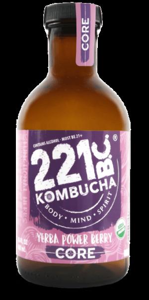 Yerba Power Berry flavored kombucha