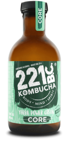 Yerba Power Green flavored kombucha