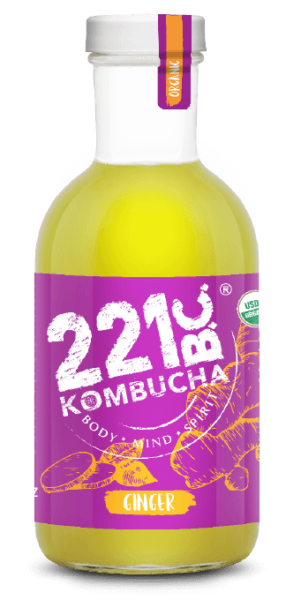 GINGER flavored kombucha