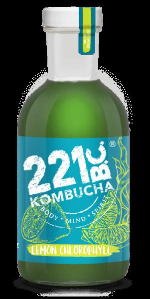 LEMON CHLOROPHYLL flavored kombucha