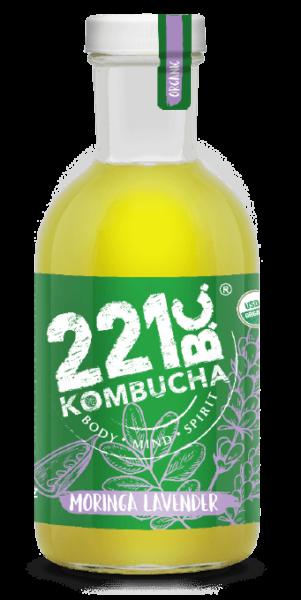 Moringa Lavender flavored kombucha