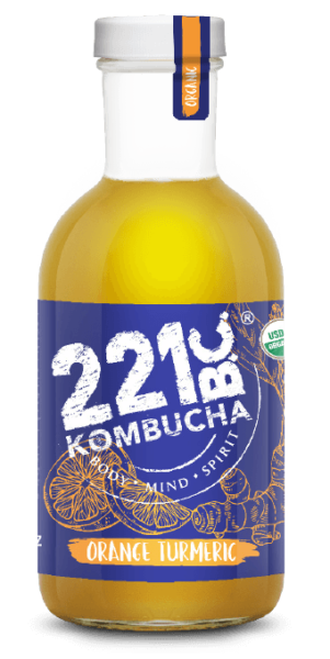 Orange Turmeric flavored kombucha